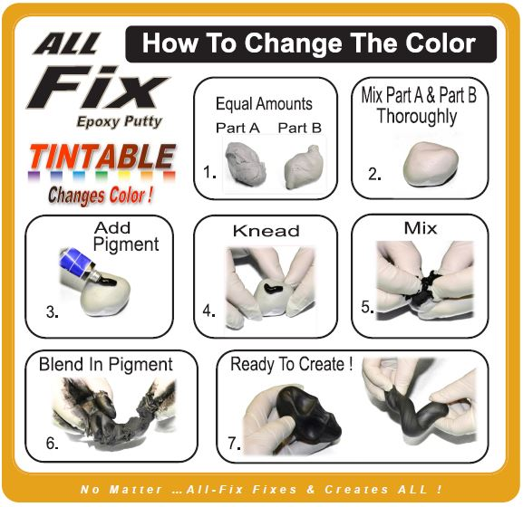 All-Fix Epoxy Putty Sculpting Modeling Repair Compound